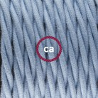 Round Electric Cable covered by rayon fabric RX04 Pixel Ice