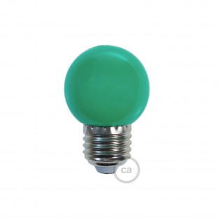 Decorative G45 Miniglobe LED bulb 1W E27 2700K - Green
