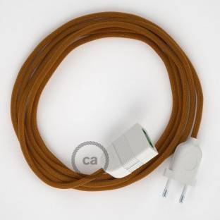 Whiskey Rayon fabric RM22 2P 10A Extension cable Made in Italy