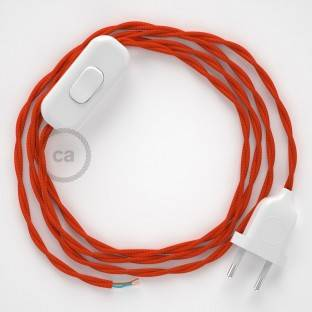 Lamp wiring, TM15 Orange Rayon 1,80 m. Choose the colour of the switch and plug.