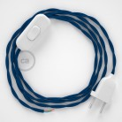 Lamp wiring, TM12 Blue Rayon 1,80 m. Choose the colour of the switch and plug.