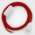 Lamp wiring, RM09 Red Rayon 1,80 m. Choose the colour of the switch and plug.