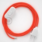 Lamp wiring, RF15 Neon Orange Rayon 1,80 m. Choose the colour of the switch and plug.