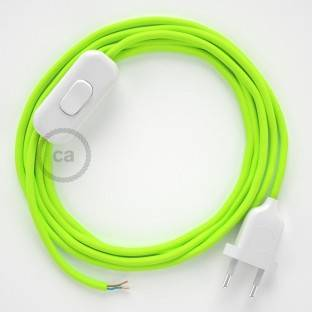 Lamp wiring, RF10 Neon Yellow Rayon 1,80 m. Choose the colour of the switch and plug.