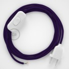 Lamp wiring, RM14 Purple Rayon 1,80 m. Choose the colour of the switch and plug.