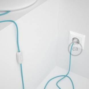 Lamp wiring, RM17 Baby Blue Rayon 1,80 m. Choose the colour of the switch and plug.
