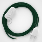 Lamp wiring, RM21 Dark Green Rayon 1,80 m. Choose the colour of the switch and plug.