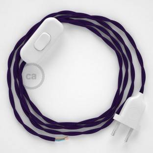 Lamp wiring, TM14 Purple Rayon 1,80 m. Choose the colour of the switch and plug.