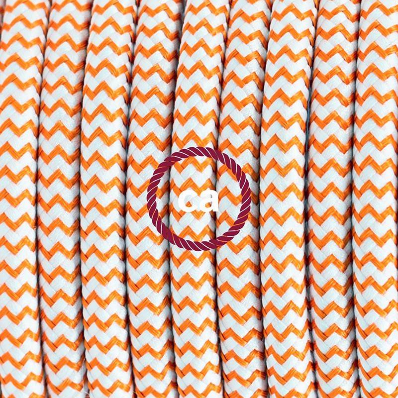 Lamp wiring, RZ15 Orange ZigZag Rayon 1,80 m. Choose the colour of the switch and plug.