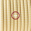 Lamp wiring, RZ10 Yellow ZigZag Rayon 1,80 m. Choose the colour of the switch and plug.