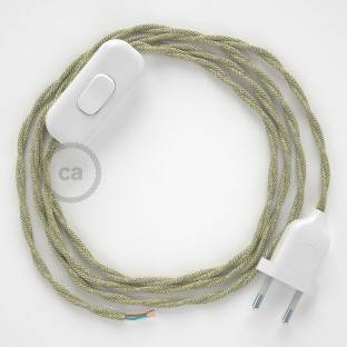 Lamp wiring, TN01 Neutral Natural Linen 1,80 m. Choose the colour of the switch and plug.
