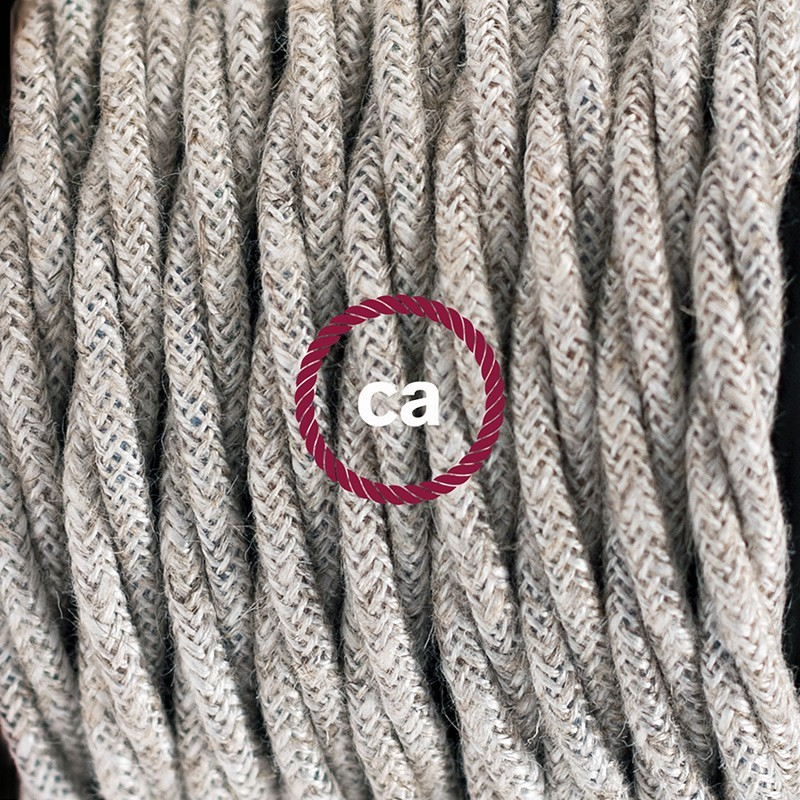 Lamp wiring, TN01 Neutral Natural Linen 1,80 m. Choose the colour of ...