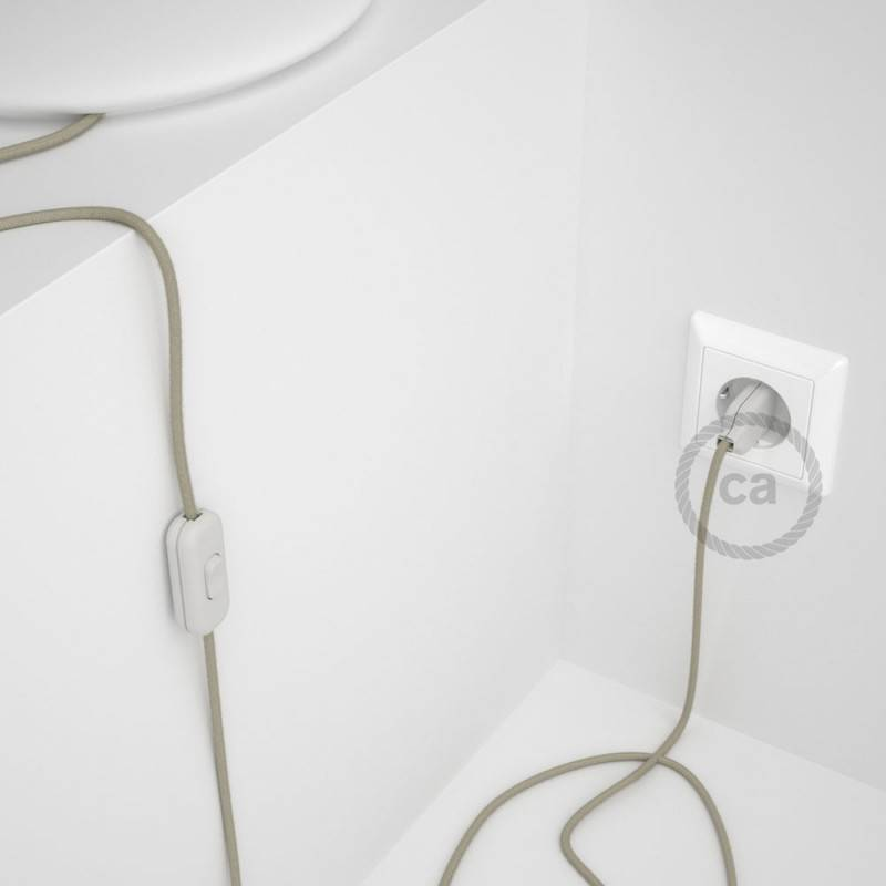 Lamp wiring, RC43 Dove Cotton 1,80 m. Choose the colour of the switch and plug.