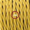 Lamp wiring, TM25 Mustard Rayon 1,80 m. Choose the colour of the switch and plug.
