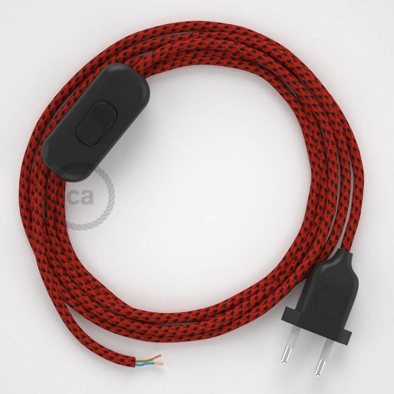 Lamp wiring, RT94 Red Devil Rayon 1,80 m. Choose the colour of the switch and plug.