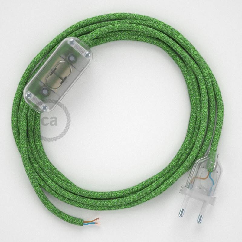 Lamp wiring, RX08 Bronte Cotton 1,80 m. Choose the colour of the switch and plug.