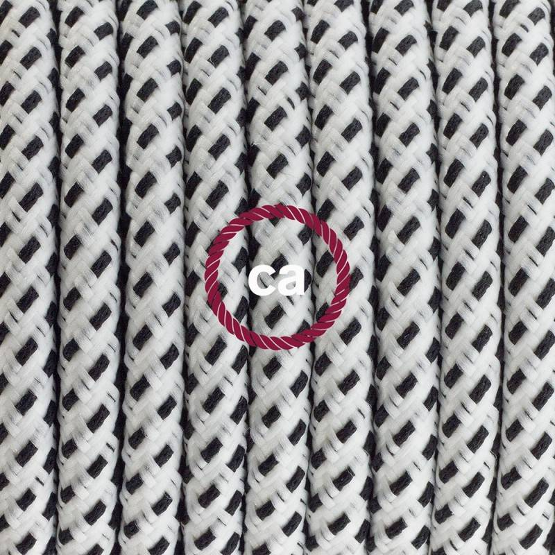 Lamp wiring, RT14 Stracciatella Rayon 1,80 m. Choose the colour of the switch and plug.