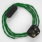 Lamp wiring, TM06 Green Rayon 1,80 m.