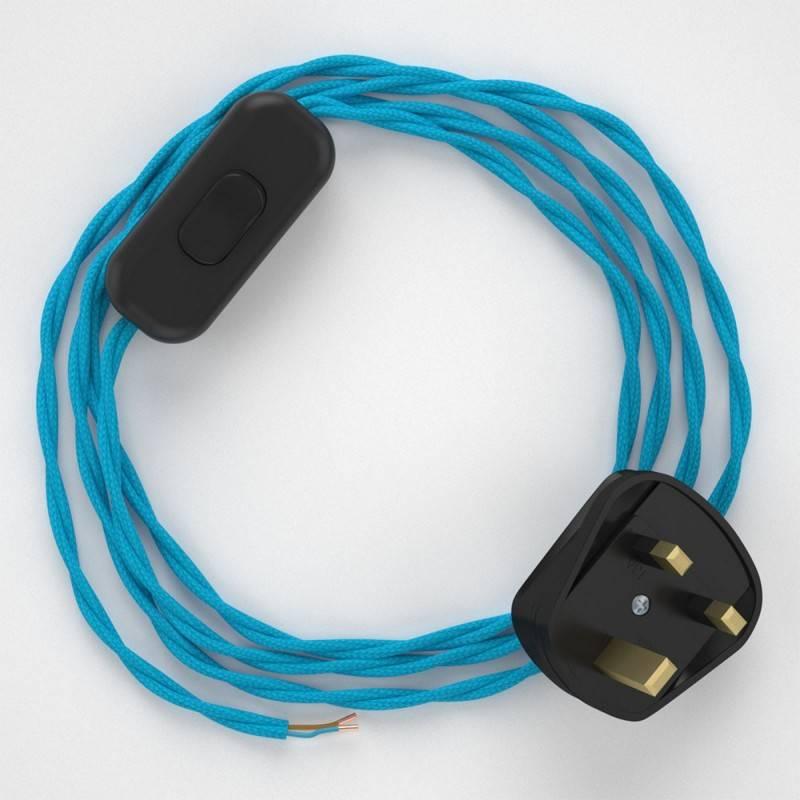 Lamp wiring, TM11 Turquoise Rayon 1,80 m.