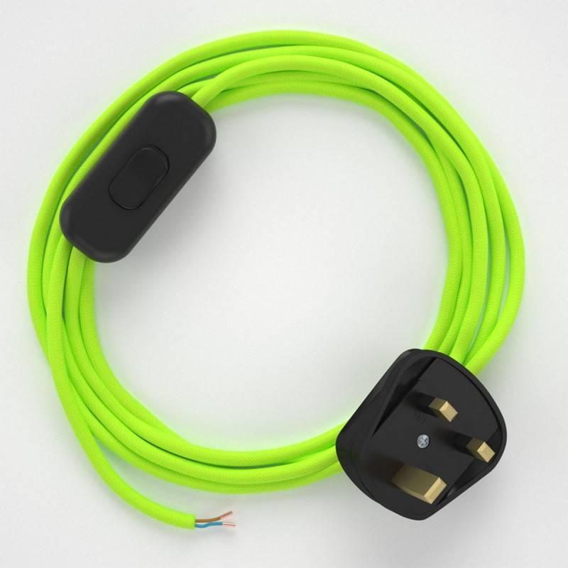 Lamp wiring, RF10 Neon Yellow Rayon 1,80 m.