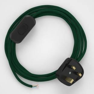 Lamp wiring, RM21 Dark Green Rayon 1,80 m.