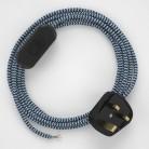 Lamp wiring, RZ12 Blue ZigZag Rayon 1,80 m.