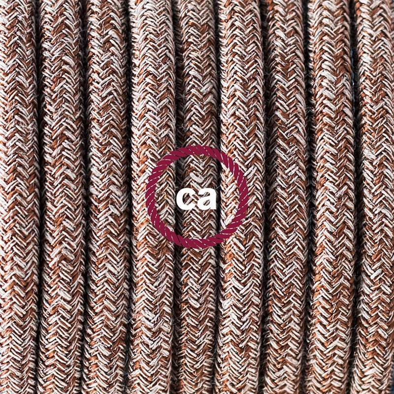 Lamp wiring, RS82 Brown Cotton and Natural Linen 1,80 m.