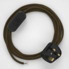 Lamp wiring, RC13 Brown Cotton 1,80 m.