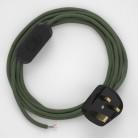Lamp wiring, RC63 Green Grey Cotton 1,80 m.
