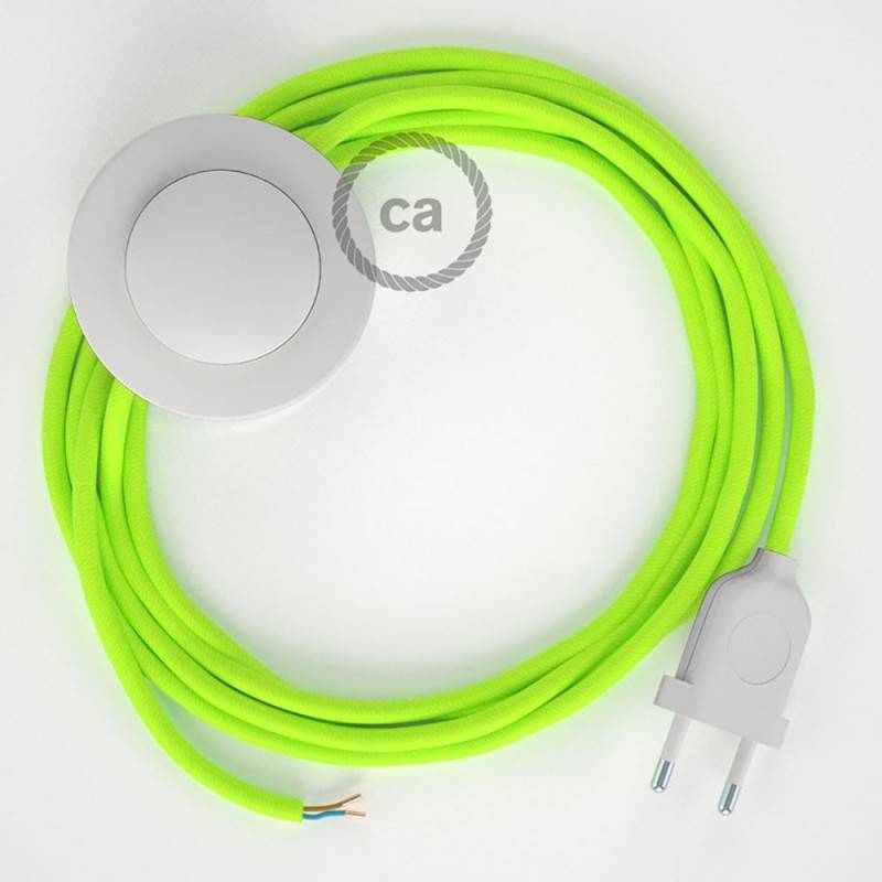 Wiring Pedestal, RF10 Neon Yellow Rayon 3 m. Choose the colour of the switch and plug.