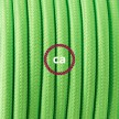 Wiring Pedestal, RF06 Neon Green Rayon 3 m. Choose the colour of the switch and plug.
