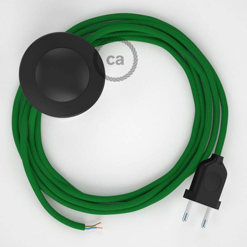 Wiring Pedestal, RM06 Green Rayon 3 m. Choose the colour of the switch and plug.
