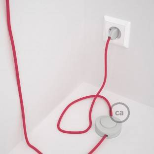 Wiring Pedestal, RM08 Fuchsia Rayon 3 m. Choose the colour of the switch and plug.