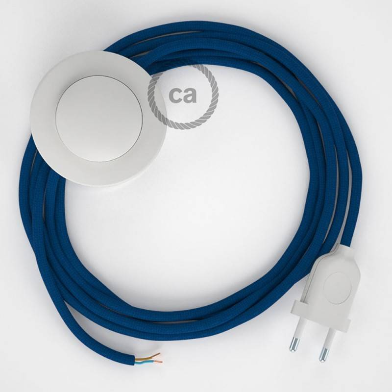 Wiring Pedestal, RM12 Blue Rayon 3 m. Choose the colour of the switch and plug.