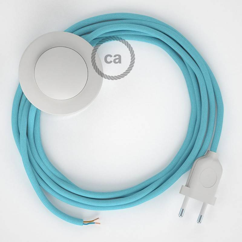 Wiring Pedestal, RM17 Baby Blue Rayon 3 m. Choose the colour of the switch and plug.