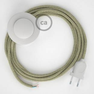 Wiring Pedestal, RN01 Neutral Natural Linen 3 m. Choose the colour of the switch and plug.