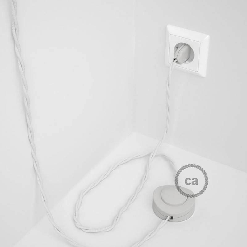 Wiring Pedestal, TM01 White Rayon 3 m. Choose the colour of the switch and plug.