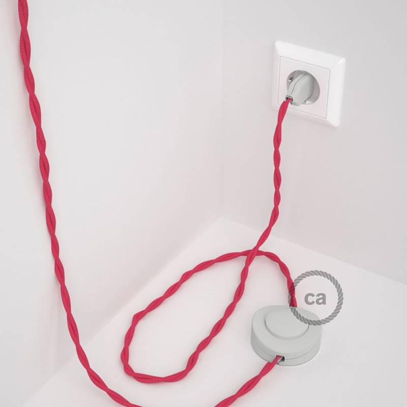 Wiring Pedestal, TM08 Fuchsia Rayon 3 m. Choose the colour of the switch and plug.