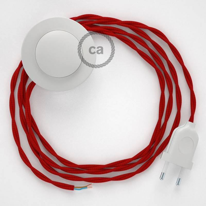 Wiring Pedestal, TM09 Red Rayon 3 m. Choose the colour of the switch and plug.