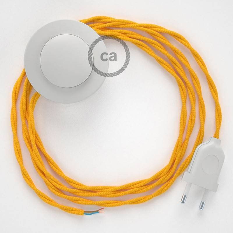 Wiring Pedestal, TM10 Yellow Rayon 3 m. Choose the colour of the switch and plug.