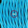 Wiring Pedestal, TM11 Turquoise Rayon 3 m. Choose the colour of the switch and plug.
