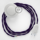 Wiring Pedestal, TM14 Purple Rayon 3 m. Choose the colour of the switch and plug.