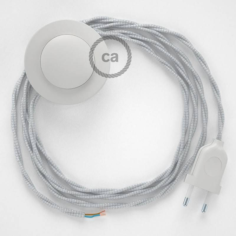 Wiring Pedestal, TM02 Silver Rayon 3 m. Choose the colour of the switch and plug.