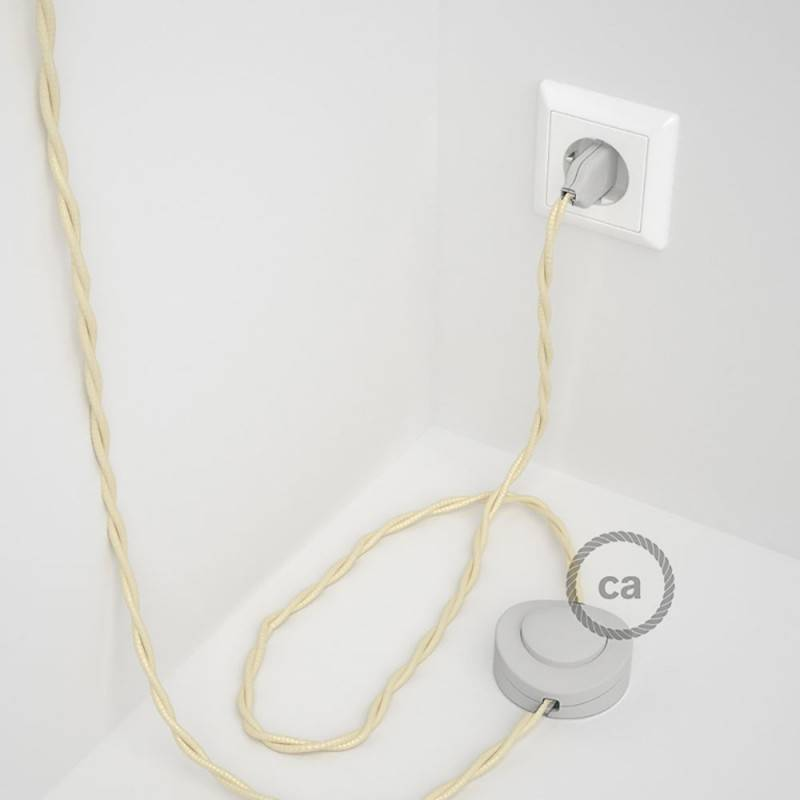 Wiring Pedestal, TM00 Ivory Rayon 3 m. Choose the colour of the switch and plug.