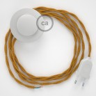 Wiring Pedestal, TM05 Gold Rayon 3 m. Choose the colour of the switch and plug.