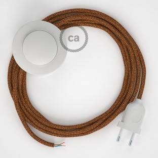 Wiring Pedestal, RL22 Sparkly Copper Rayon 3 m. Choose the colour of the switch and plug.