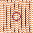 Wiring Pedestal, RZ15 Orange ZigZag Rayon 3 m. Choose the colour of the switch and plug.