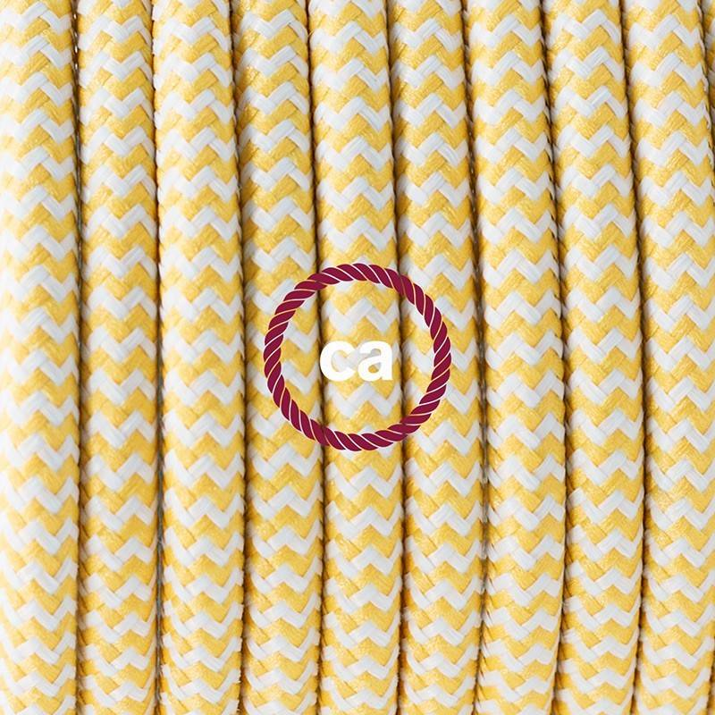 Wiring Pedestal, RZ10 Yellow ZigZag Rayon 3 m. Choose the colour of the switch and plug.