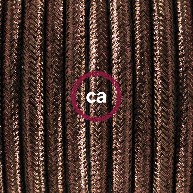 Wiring Pedestal, RL13 Sparkly Brown Rayon 3 m. Choose the colour of the switch and plug.