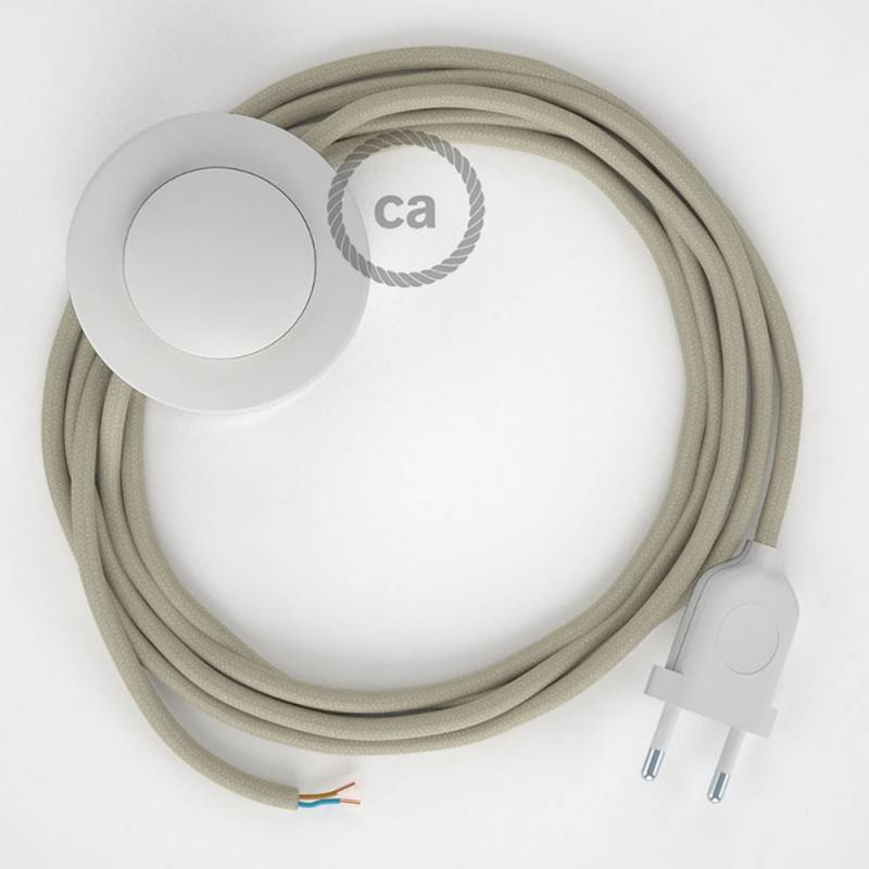 Wiring Pedestal, RC43 Dove Cotton 3 m. Choose the colour of the switch and plug.